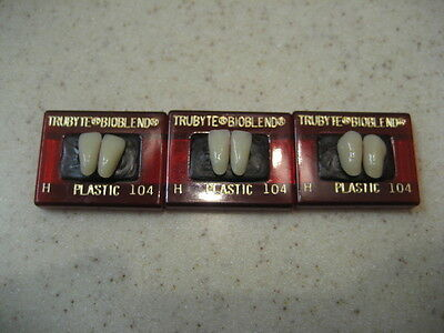 Dentsply Denture  Trubyte Bioblend Lower Anterior Mould H / 104 FREE US SHIPPING