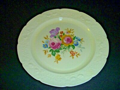 Antique Homer Laughlin China - Ravenna - Scalloped Embossed Floral Plate