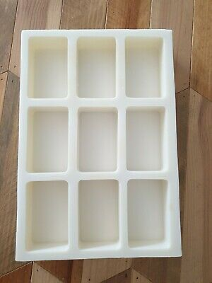 Silicone mould for 9 bars soap