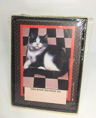 Vintage Antioch (30) Self-Stick Bookplates Cat Themed made in US