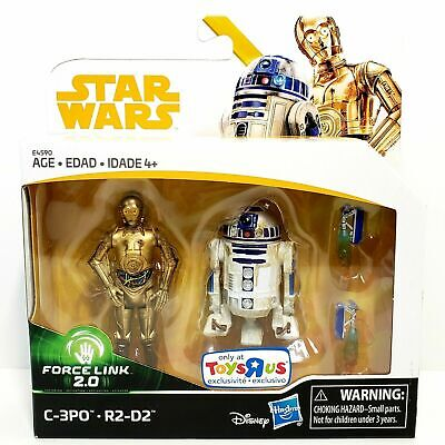 """Star Wars Force Link 2.0 C-3PO & R2-D2 Two-Pack Droid Exclusive 3.75"""" Figures"""