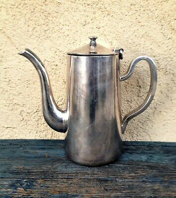 Vintage Dw Haber & Son New York Hilton Hotel Solid Silver Plate Metal Pitcher