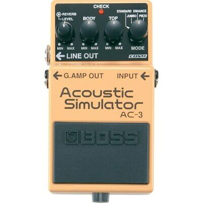 BOSS AC-3 Acoustic Guitar Modeling Simulator Effects Stompbox Pedal w/ Reverb
