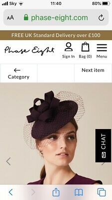 Phase Eight Fascinator, Mother of the Bride. worn once. excellent condition
