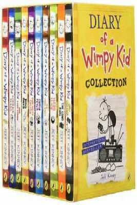 Diary Of A Wimpy Kid Collection (Books 01-10) by Jeff Kinney [Box Set]