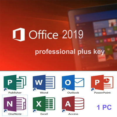 MS Office 2019 Pro Plus Professional Product Key License Code-1PC-GENUINE