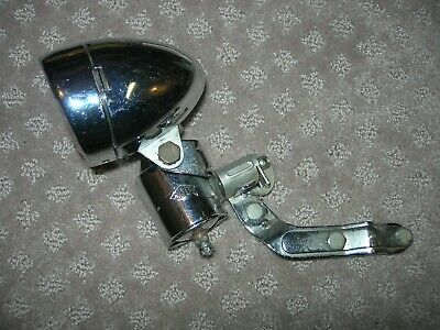 CHROME TORPEDO BICYCLE HEADLIGHT VINTAGE SCHWINN CRUISER TANK BIKES DELTA