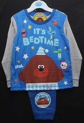 "Boys HEY DUGGEE Pyjamas ""IT'S BEDTIME"" Blue/Grey PJs Sizes 18 months-5 years"