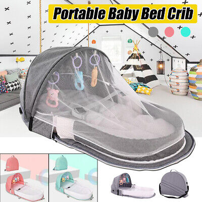 Portable Baby Crib Nursery Travel Folding Baby Bed Toddler Infant Mosquito Net
