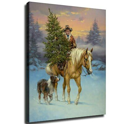 """12""""x16""""Christmas scenery HD Canvas poster Painting Home Decor Picture Wall art"""