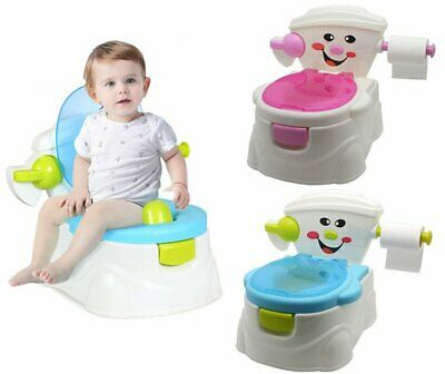 3 in 1 Baby Kids Toddler Potty Training Seat Toilet Trainer Safety Fun Blue Pink