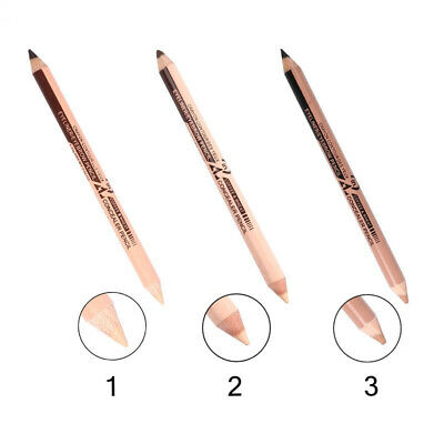 2X(Menow 10Pcs/Lot Double-Ended Waterproof Long Lasting Eyebrow Pencil Cosmetic
