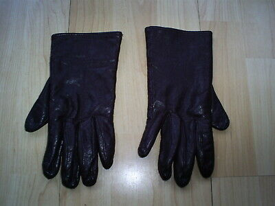 Ladies vintage ST MICHAEL brown soft leather  lined gloves  Large