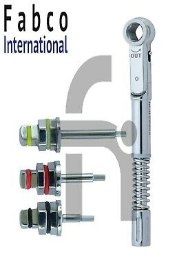 Dental Implant Universal Torque Wrench 10-50 Ncm With Hex Drivers 1.25mm