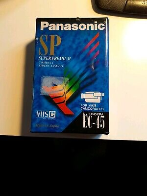 Panasonic Sp .Vhs Ec 45 Tape .For Vhsc Camcorders