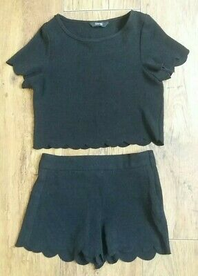 Girls Age 4-5 Years Outfit Shorts & Top Set George Black