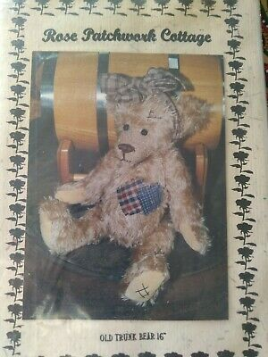 Old Trunk Bear Teddy Bear Pattern by Rose Patchwork Cottage