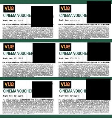 3 Vue Club Lloyd's Cinema Tickets - Expire 13.12.19 - Price For All 3 Tickets