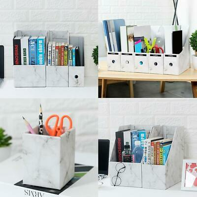 Magazine Files Books Paper Holder Office Organiser Storage Boxes White Hot