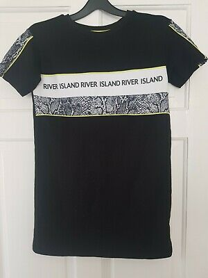 Girls River Island t shirt Dress Age 7-8 New Without Tags