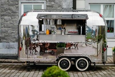 Airstream Catering mobile Food Truck, Coffee Gin Prosecco