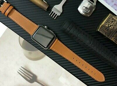 Genuine Leather Apple Watch Band Strap For iWatch Series 5/4/3/2/1 38/40/42/44mm