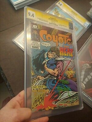Coyote #11 &12 Cgc Ss 9.4 & 9.6 Origin Of Slash Todd Mcfarlane 1St Artwork