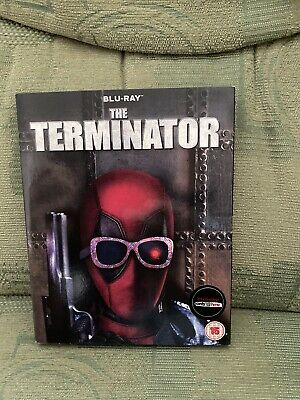 The Terminator, Blu Ray, With Rare Deadpool Cover, New & Sealed Schwarzenegger