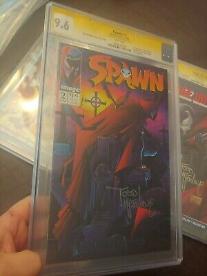 Spawn #2 Cgc Ss 9.6 1St App Of The Violator Todd Mcfarlane