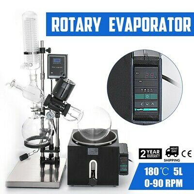 5L Rotary Evaporator RotoVap Boiling Flask 5L Receiving Flask 3L Lift Range 4.7""