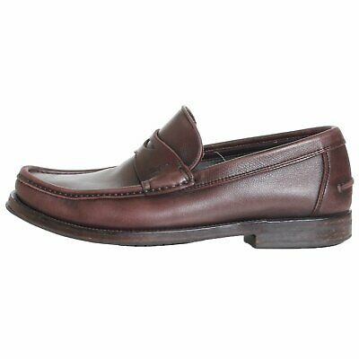 Salvatore Ferragamo Brown Leather Penny Loafers Size 6.5