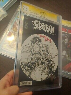 Spawn #193 Cgc Ss 9.6 Sketch Cover Signed By Todd Mcfarlane