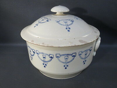 Antique Soup Tureen in Earth Glazed French Antique Soap Dish Pottery