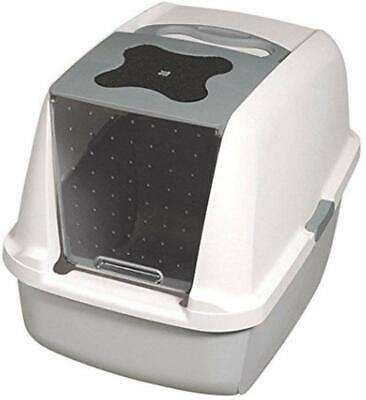 Large Cat Litter Hooded Box Carbon Filter Tray Cats Toilet No Nasty Smells Tray