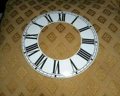 "Round Paper (Card) Clock Chapter Ring- 7"" M/T - Roman-GLOSS WHITE - Parts/Spares"