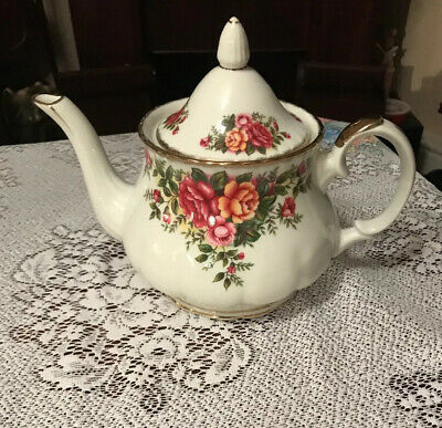 English Garden Fine China Large Teapot Floral New Price