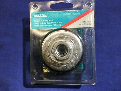 "Makita 3"" Crimped wire cup brush Metric Arbor thread 10X1.25  743201-4"