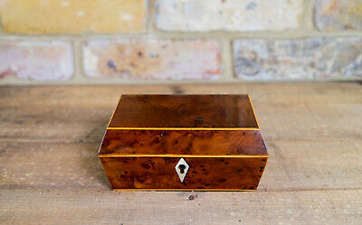 Small Burr Yew Table Box c.1810