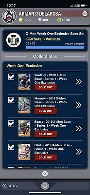 Topps Marvel Collect Set Of 38 + 2 Awards X-Men Week One Exclusives Wolverine