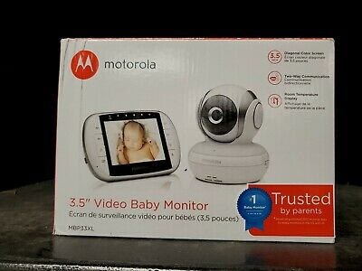 "Motorola MBP33XL 3.5"" Video Baby Monitor with Digital Zoom, Two-Way Audio and .."