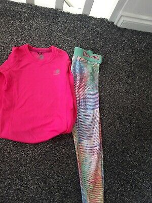 Girls Activewear age 6-7 trousers say age 5-6 but big made. Top age 7-8