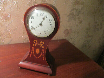 victorian villlon france?inlaid  mahogany cased mantle clock