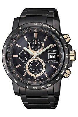 Citizen Eco-Drive Men's Atomic World Time Chronograph 43.5mm Watch AT8127-85F