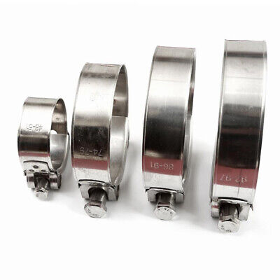 5 X 304 Stainless Steel Clip Hose Clamp Car Fuel Line Diesel Petrol Pipe Clamps