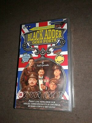 "The Complete"" Blackadder Goes Forth "" Forth Series  (6 Episodes) Vhs Tape"