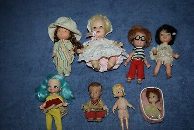 Lot of Small Vintage Dolls