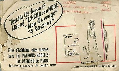 Vintage Ensemble French Sewing Pattern G288 Taille 48
