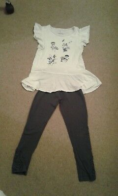 Next Girls  leggings  with matching t-shirt age 8