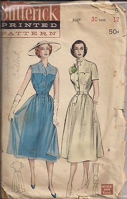 Vintage Casual Dress Sewing Pattern B5676 Size 12