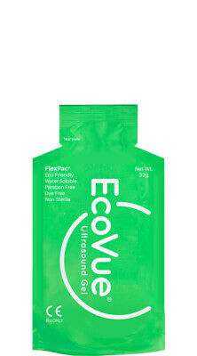 EcoVue Ultrasound Gel, 20g Packets Eco-Friendly, 24/PK  Non-Sterile – #281 NEW